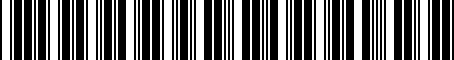 Barcode for 8121002160