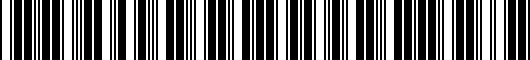 Barcode for PT90748100MM