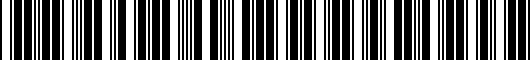 Barcode for PT9364811028