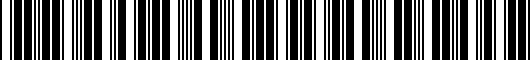 Barcode for PT9364816002