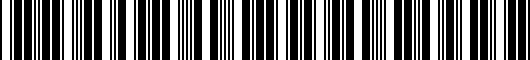 Barcode for PT9364816020